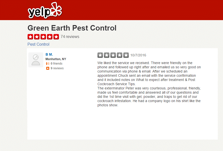 Green Earth Pest Control Yelp