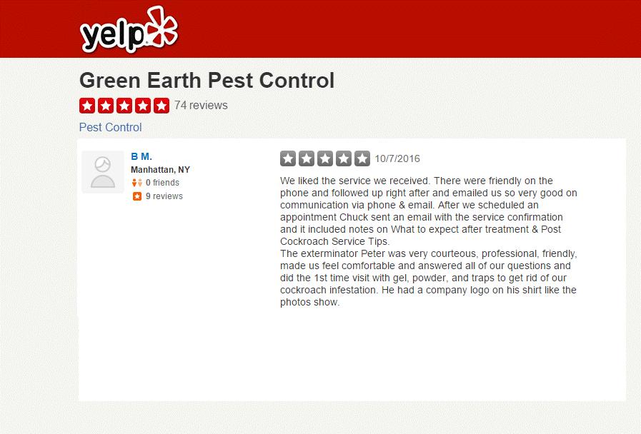 Green Earth Pest Control Yelp